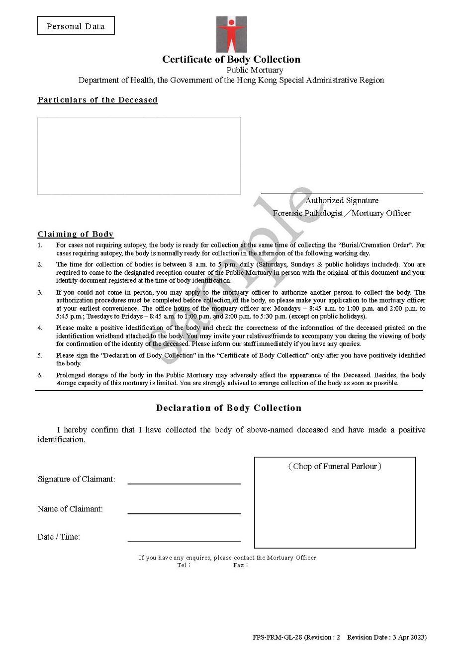 Department Of Health Forensic Pathology Service Faq